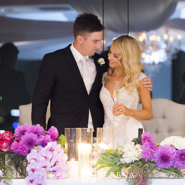 Shaun Marsh and Rebecca O'Donovan married, Frasers Restaurant wedding