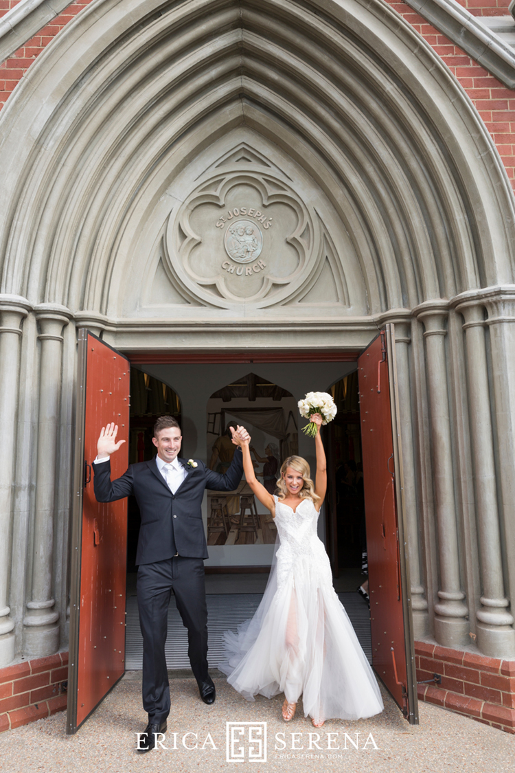shaun marsh rebecca o'donovan, wedding at st joseph's subiaco