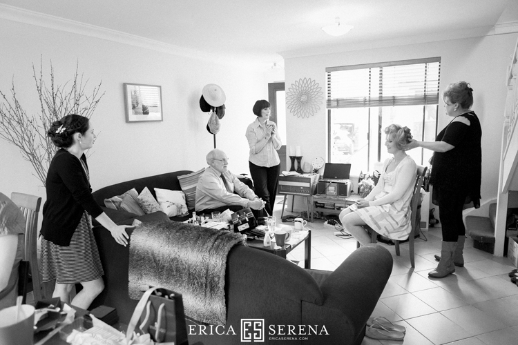 bridal preparation photos perth