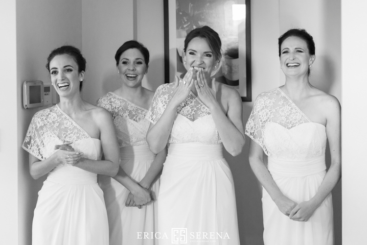 bridesmaids in galleria couture