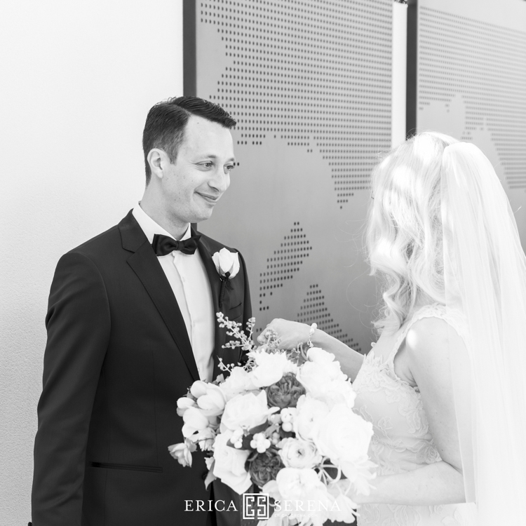 first look wedding photo moment