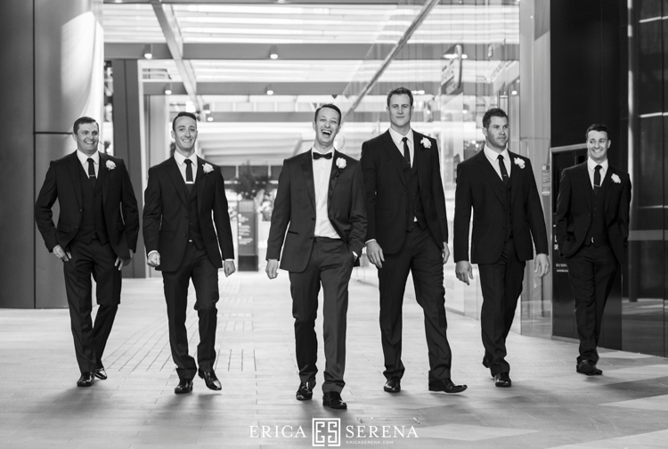 groomsmen at brookfield place perth