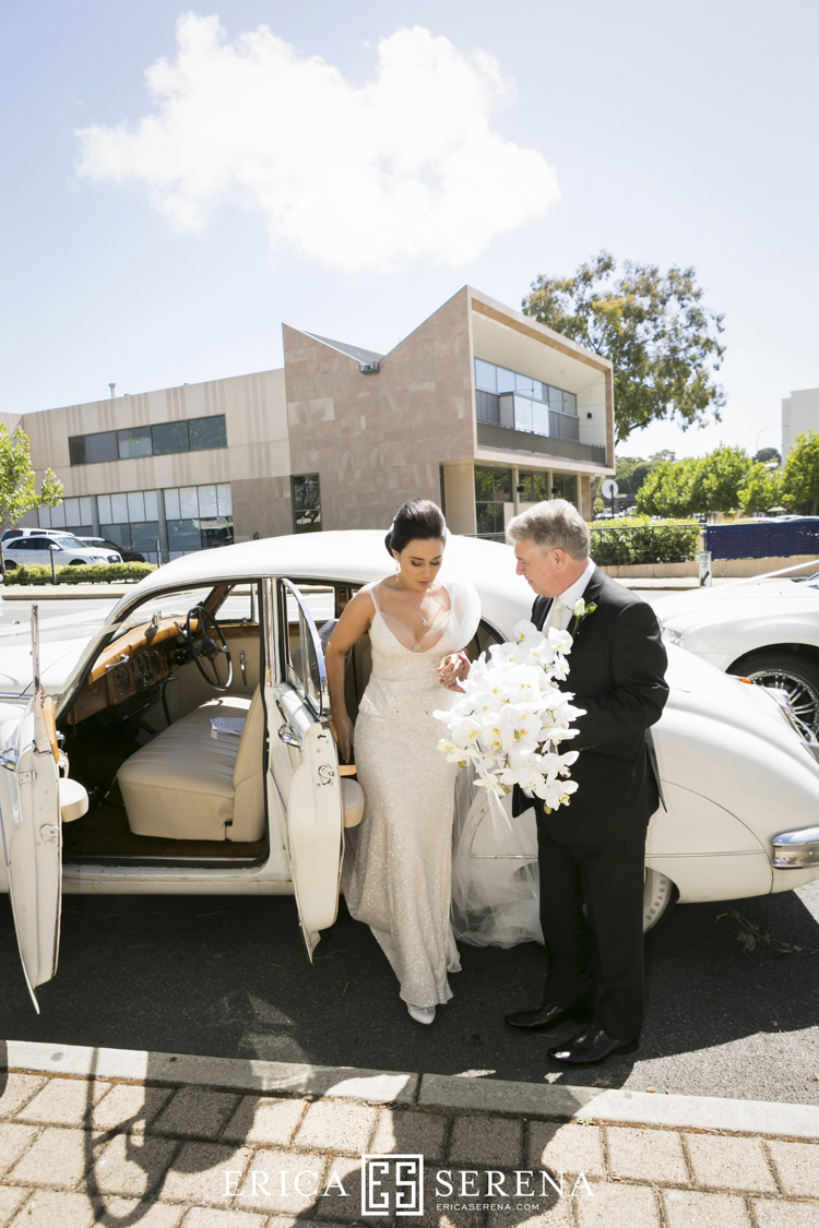 wedding at christchurch claremont, belle classics limousines