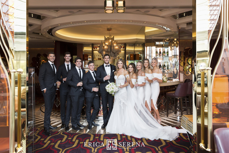 wedding at crown perth, pallas couture bride