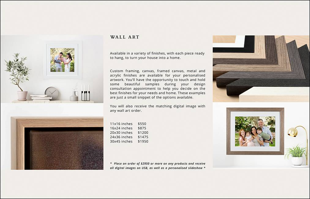 06 - WALL ART PRICING PAGE