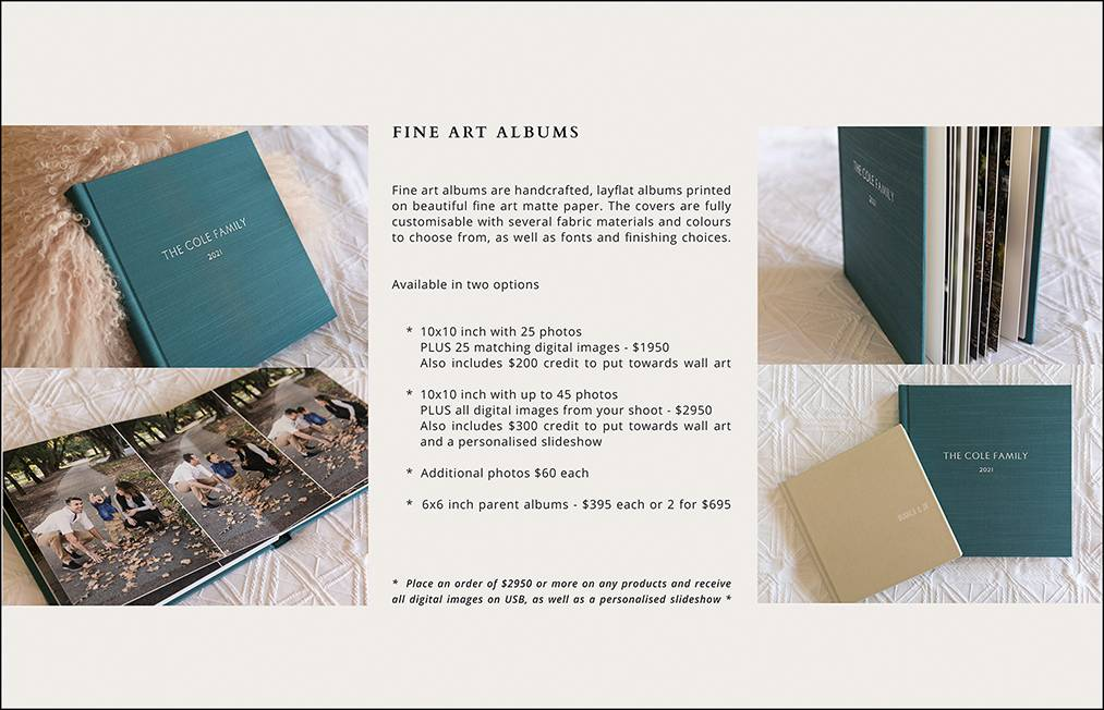 08 - ALBUM PRICING PAGE