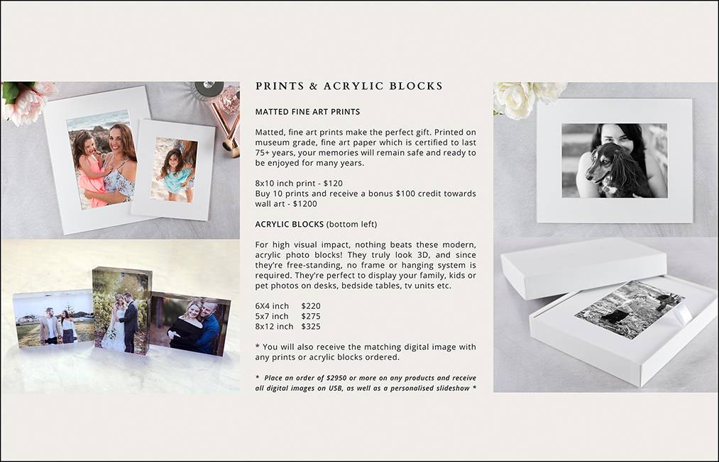 12 - PRINTS & ICE BLOCKS PRICING PAGE