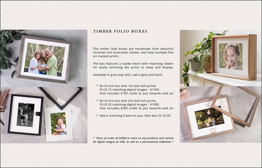 10 - TIMBER FOLIO BOX PRICING PAGE